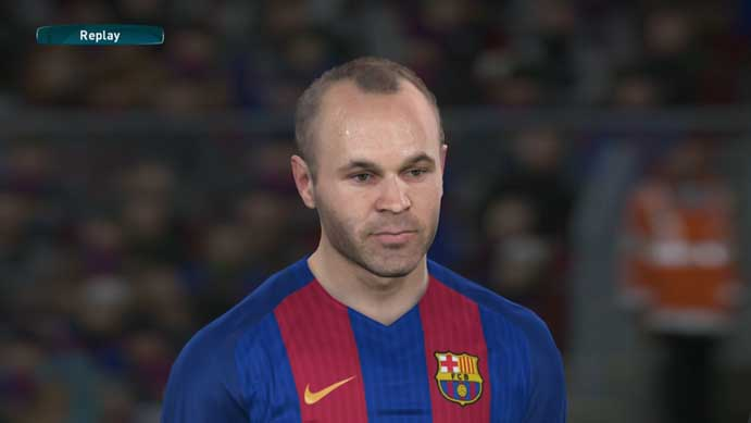 Jogador experiente do Barça é um dos destaques da demo de PES 2017 (Foto: Reprodução/Murilo Molina)