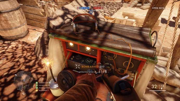 Arme a bomba para destruir os objetivos em Battlefield 1 (Foto: Reprodução/Murilo Molina)