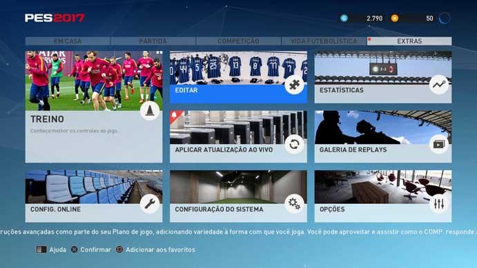 PES 2017  aprenda a instalar Option Files para personalizar o game (Foto   Reprodução f757dc395eccc