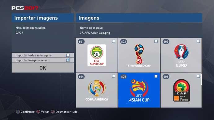 Logos de ligas também podem ser mudados no PES 2017 (Foto  Reprodução Murilo 374e8c2e29f0f