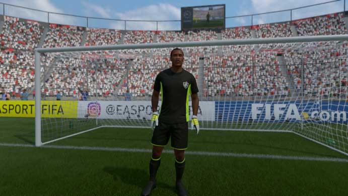Diego Cavalieri virou Mutto em Fifa 17 (Foto: Reprodução/Murilo Molina)