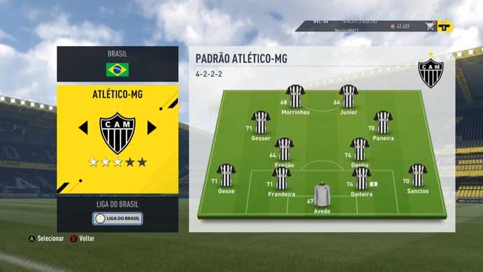 Elencos mostram jogadores genéricos em Fifa 17 (Foto: Reprodução/Murilo Molina)