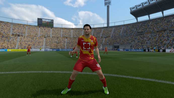 Chamas são destaque do uniforme de Fifa 17 (Foto: Reprodução/Murilo Molina)