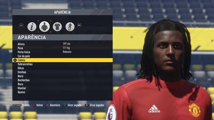 Defina o visual do jogador em Fifa 17 (Foto: Reprodução/Murilo Molina)