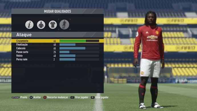 Configure os atributos do jogador de Fifa 17 (Foto: Reprodução/Murilo Molina)