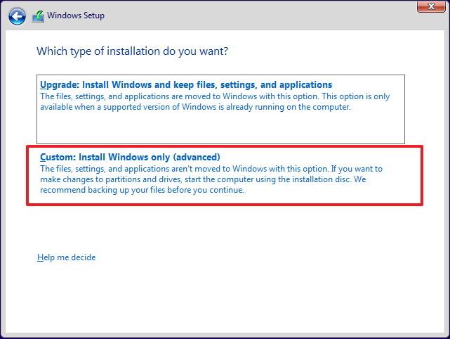 Instalação personalizada do Windows 10 (Foto: Reprodução/Microsoft)
