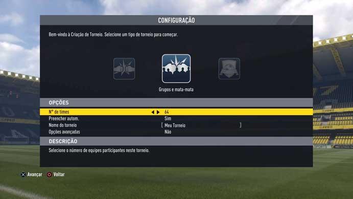 Configure o número de participantes no Fifa 17 (Foto: Reprodução/Murilo Molina)