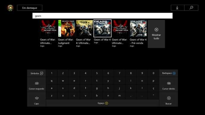 Selecione o Gears of War 4 (Foto: Reprodução/Murilo Molina)
