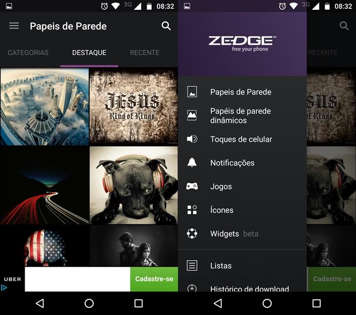 ZEDGE é um dos mais completos apps de personalização do celular (Foto: Felipe Alencar/TechTudo)