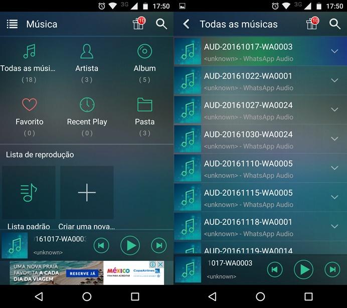 MP3 Player alternativo no Android (Foto: Reprodução/Helito Bijora)