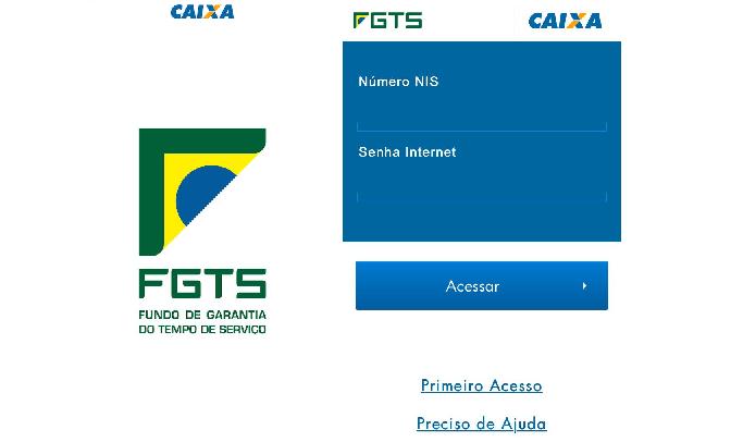 Efetue o login no FGTS com NIS e senha (Reprodução/Luana Marfim)