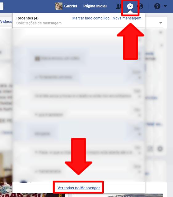 Abrindo o messenger na web você poderá visualizar todas as mensagens. (Foto: Reprodução/GabrielGalli)