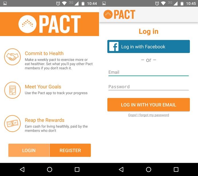 Com o Pact você faz um pacto com os seus treinos (Foto: Felipe Alencar/TechTudo)