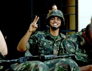basquete Jefferson, ala-pivô do Flamengo, sargento do exército