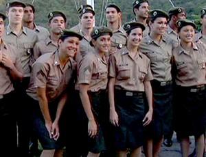 formatura atletas exército