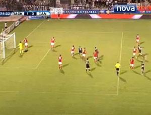 FRAME jogo entre PAOK e Skoda Xanthi (Foto: Reprodução)