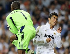 Cristiano Ronaldo no jogo do Real Madrid contra o Ajax (Foto: AFP)