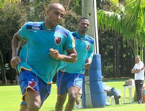 Deivid no treino do Flamengo (Foto: Janir Junior / GLOBOESPORTE.COM)