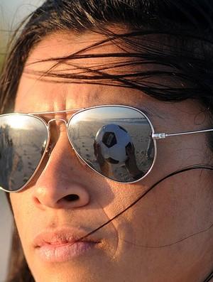 500a86508a98d Marta durante entrevista na praia (Foto  André Durão   GLOBOESPORTE.