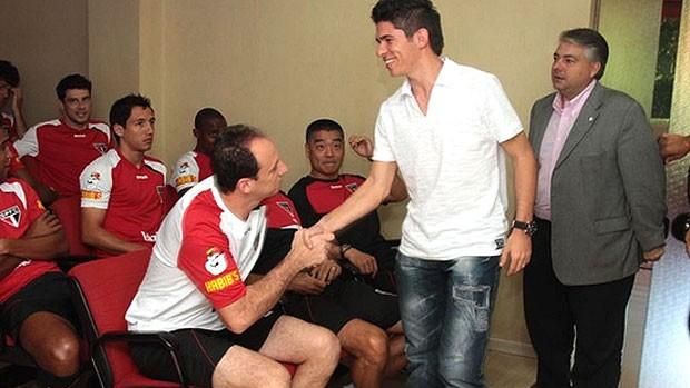 Osvaldo e Rogério Ceni no São Paulo (Foto: Rubens Chiri / Site oficial do São Paulo FC)