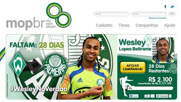 609a4ce12c Site tenta arrecadar dinheiro para contratação de Wesley (Foto  Reprodução  da internet)