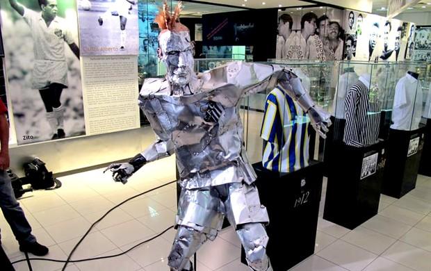 neymar santos museu (Foto: Leandro Canônico / Globoesporte.com)