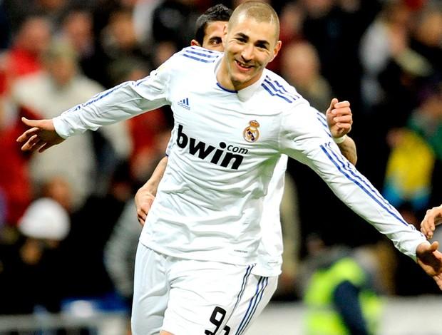 Benzema, comemoração, Real Madrid