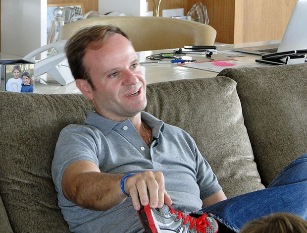 Rubens Barrichello em casa (Foto: Rafael Lopes/GLOBOESPORTE.COM)