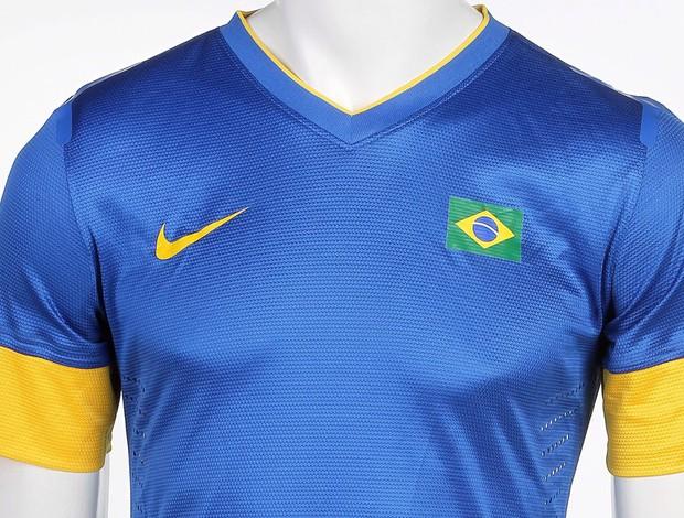 Camisa azul que a Seleção Brasileira vai usar em Londres já está pronta af0c89090f1c9