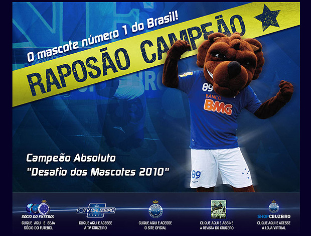 925e7653d1185 Cruzeiro exalta Raposão no site oficial  'o mascote número 1 do ...