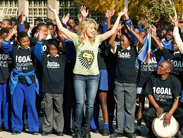 Shakira crianças Soweto campanha social