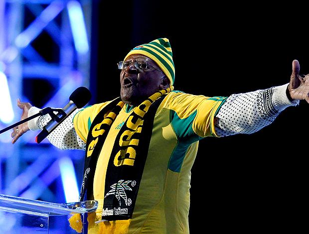 O Arcebispo Desmond Tutu abertura da copa