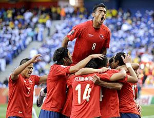 comemoração Chile jogo Honduras