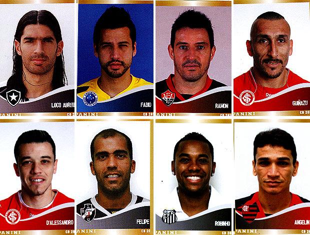 3251d5ef42 montagem figurinhas jogadores Brasileirão 2010 Figurinhas de jogadores do  álbum ...