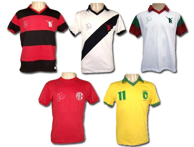 7feff57c83 montagem camisas retrô romário