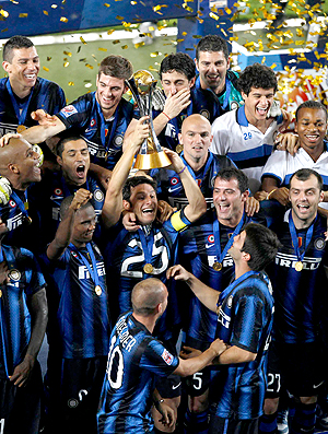 Javier Zanetti taça Inter de Milão Mundial de Clubes