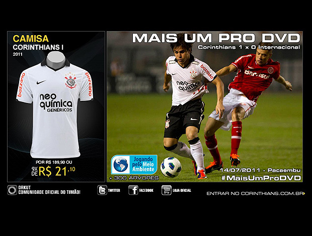 Site do Corinthians provoca Inter e relembra DVD colorado de 2009 ... e6118d406ebbc