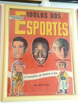 Ted Boy Marino, ex-lutador de Telecatch e torcedor do Fluminense (Foto: Bernardo Pombo / Globoesporte.com)