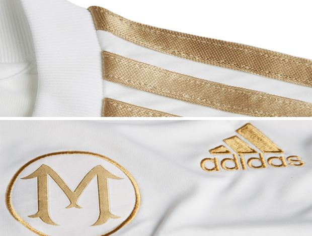 7ef8d31fd3a8b Novo modelo da camisa de Marcos será branco com detalhes dourados ...