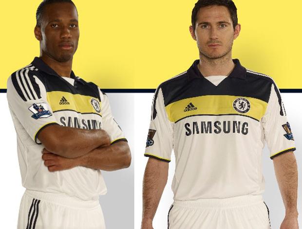 86303e90b9 Novos uniformes do Chelsea (Foto  Divulgação)