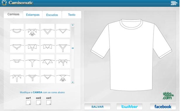 18ff2c1f23fae Camisomatic  ferramenta permite que você crie uniformes na internet ...
