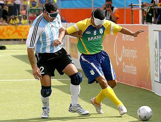 Brasil na partida de futebol de 5 no Parapanamericano (Foto   Globoesporte.com) a6ea6ea58e3fd