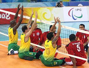 equipe do Brasil no vôlei sentado Parapanamericanos no México (Foto   Exemplus   CPB) 90cdf4bdf94ea