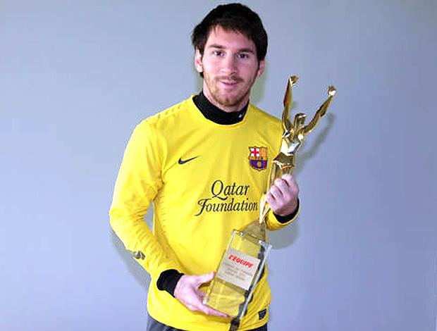 Messi ganha o prêmio do L´Equipe (Foto: Divulgação / Site Oficial)