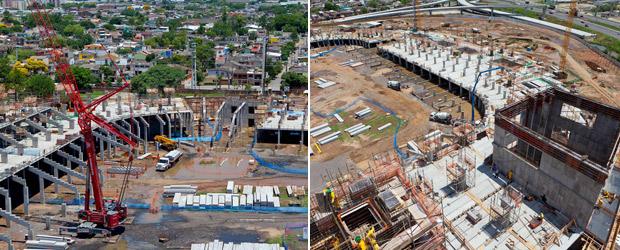 Arena do Grêmio obras 50% metade (Foto: Divulgação)
