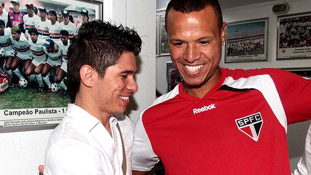Osvaldo e Luis Fabiano no São Paulo (Foto: Rubens Chiri / Site oficial do São Paulo FC)