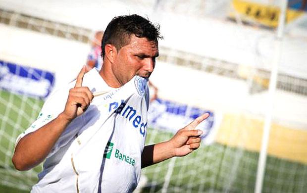 d1e5e58c77815 Cristiano Tiririca comemora gol do Confiança contra o Itabaiana (Foto   Reprodução   Site Oficial