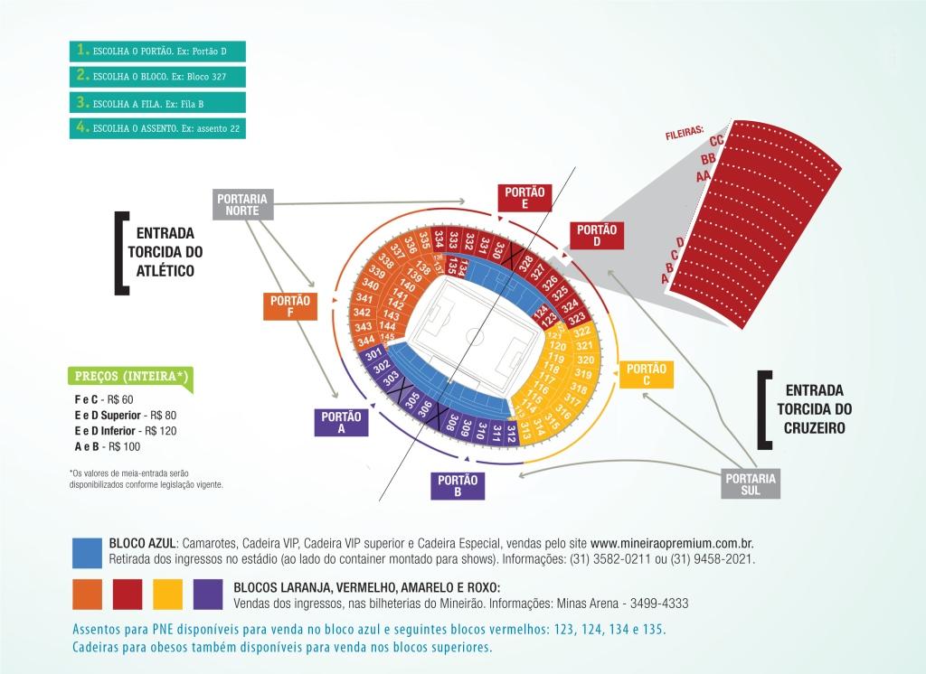 estadio da luz mapa Números e letras: saiba como se localizar no novo estádio Mineirão  estadio da luz mapa