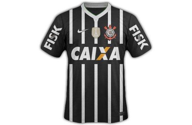 c4dd0c69f Nova camisa do Corinthians volta a ter listras brancas  veja como ficou