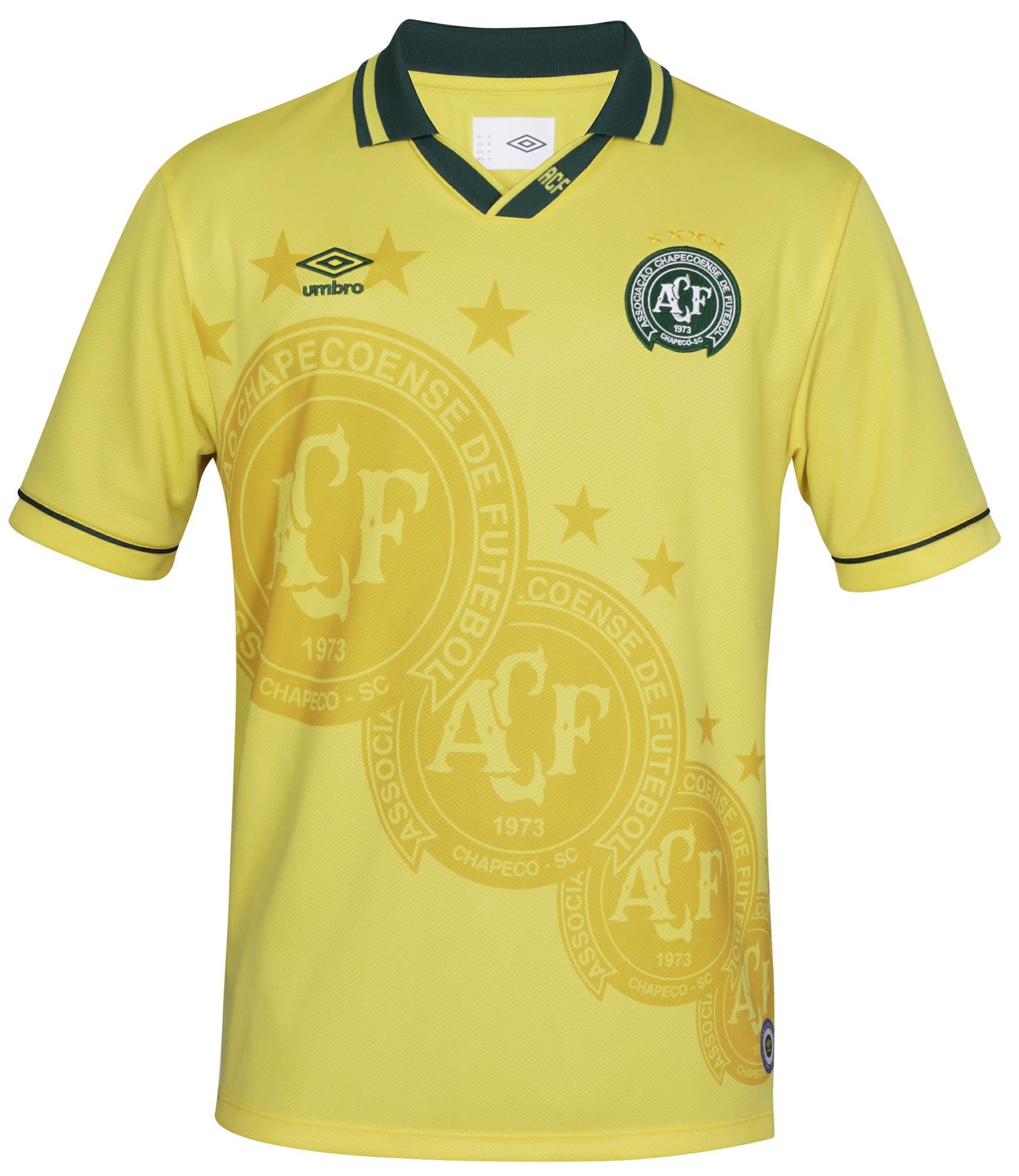 5e3063c02 Revelada camisa especial dourada da Chapecoense diante do Palmeiras ...